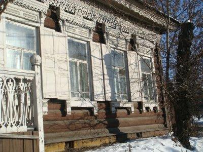 Holzhaus in Irkutsk - Sibirien - Russland