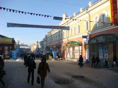 Uliza Urizlogo in Irkutsk - Sibirien - Russland