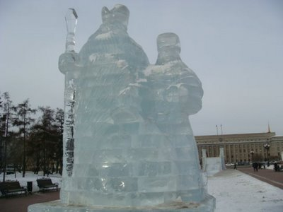 Eisfiguren Irkutsk - Sibirien - Russland