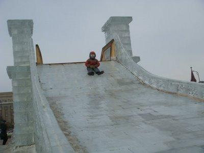 Eisrutsche Irkutsk - Sibirien - Russland