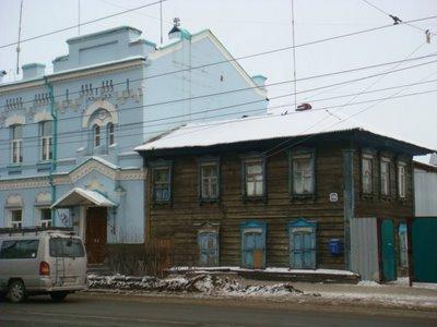 Holzhäuser in Irkutsk - Sibirien - Russland