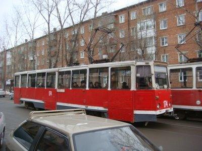 Straßenbahn in Irkutsk - Sibirien - Russland