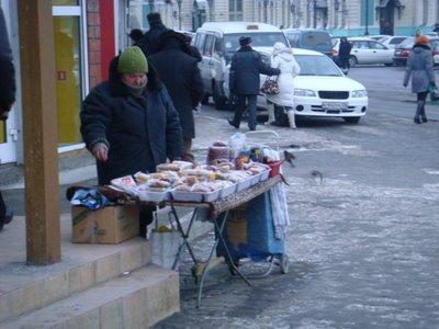 Verkaufsstand Irkutsk - Sibirien - Russland