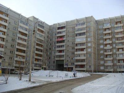 Plattenbau in Irkutsk - Sibirien - Russland