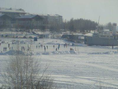 Eislaufplatz Angara - Irkutsk - Sibirien - Russland