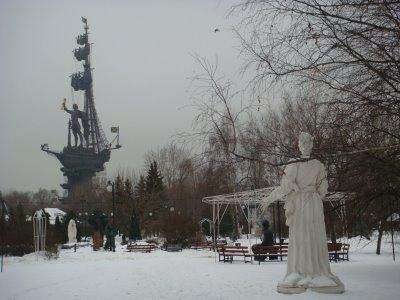 Denkmal Peter des Großen in Moskau - Russland