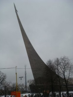 Juri Gagarin Raketen-Denkmal - Moskau - Russland