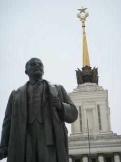 Lenin-Statue Allrussisches Ausstellungszentrum Moskau - Russland