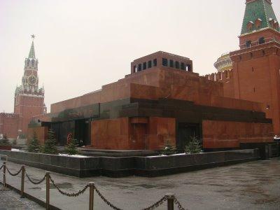 Lenin-Mausoleum am Roten Platz in Moskau - Russland