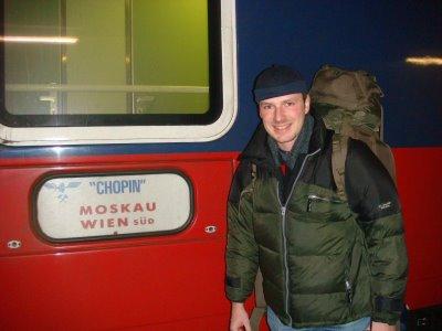 """""""Check in"""" im Schlafwagen Wien - Moskau"""