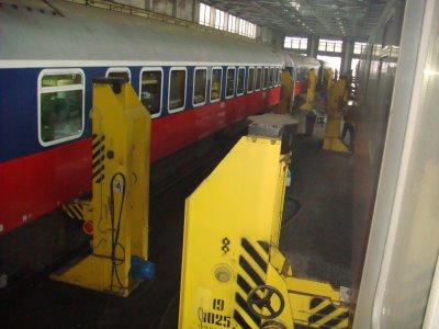 Wagenhalle Fahrgestellwechsel in Brest - Weißrussland