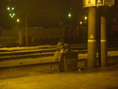 Nachtstimmung Bahnhof Orscha - Russland