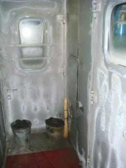 Transsibirische Eisenbahn - Gefrorene Tür Einstiegsbereich
