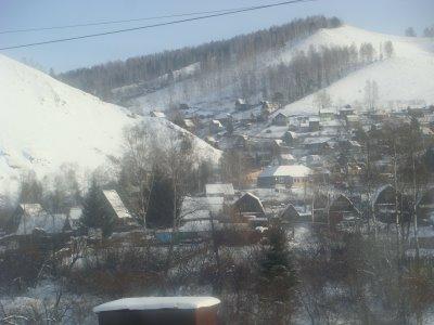 Transsibirische Eisenbahn - Holzhäuser - Sibirien - Russland