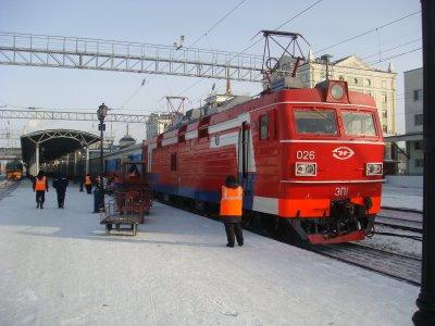 Transsibirische Eisenbahn - Lokomotive - Russland