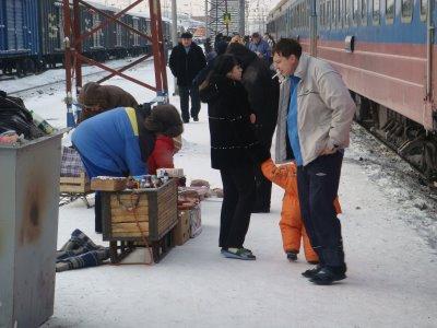 Transsibirische Eisenbahn - Bahnsteig - Russland
