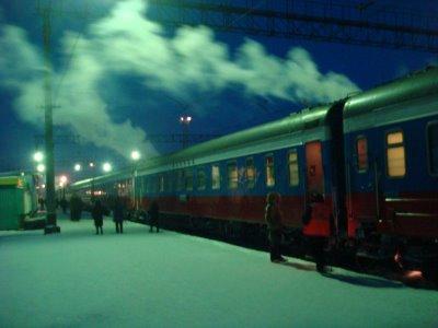 Transsibirische Eisenbahn - Abendstimmung - Russland