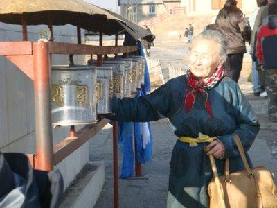 Ulaanbaatar - Mongolei - Gebetsmühlen Gandan Kloster