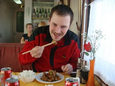 Zug Nr. 24 - Ulaanbaatar - Beijing Chinesischer Speisewagen