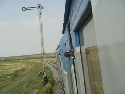 Signal auf der Strecke Medgidia - Tulcea, Rumänien