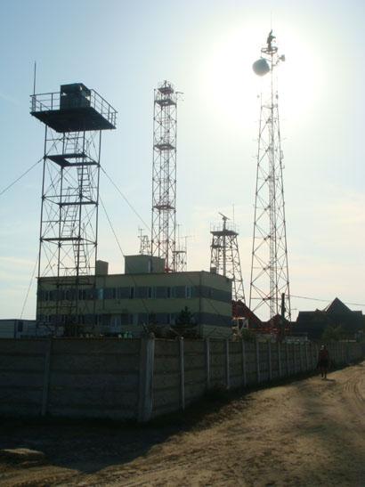 Radaranlage in Sfantu Gheorghe im Donaudelta - Rumänien