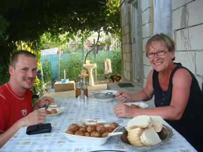Abendessen in der Pension - Donaudelta - Rumänien