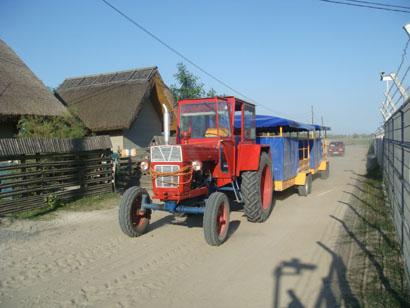 Traktor-Taxi in Sfantu Gheorghe - Donaudelta - Rumänien