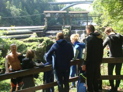 Scuben - Flussschnorcheln in der Traun - Oberösterreich