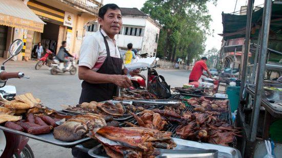 Straßenküche in Kambodscha