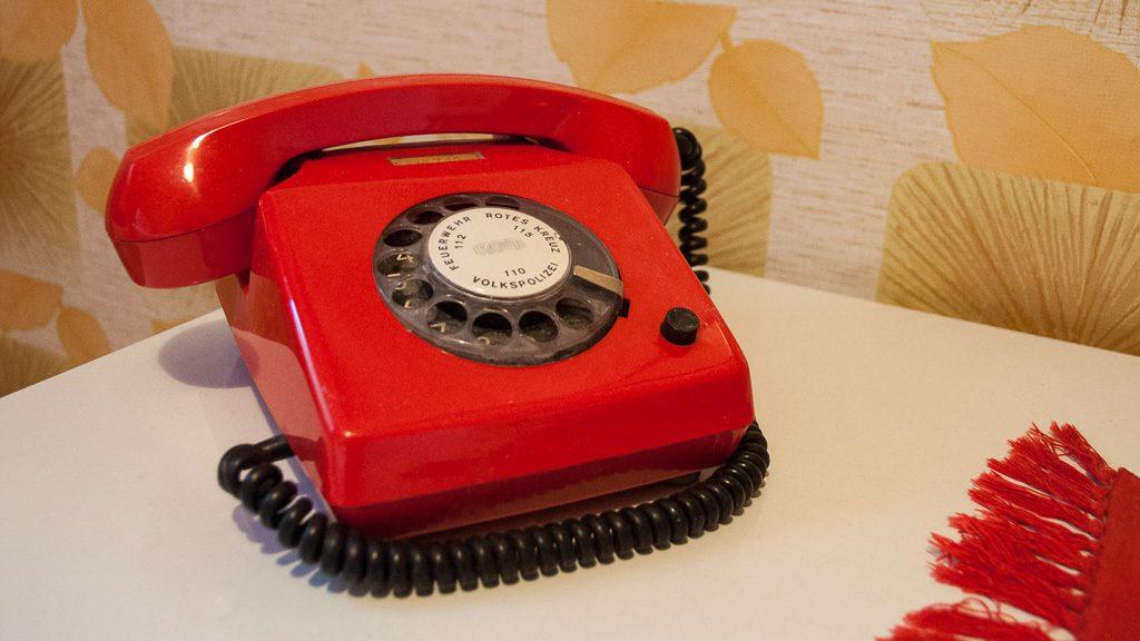 Ostel DDR Hotel Wählscheibentelefon