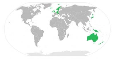 Tollwut-Freie Gebiete der Welt - Bild: WHO