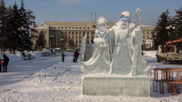 Silvester in Russland: Irkutsk