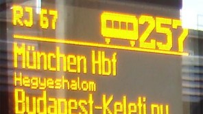 Digitales Wagenlaufschild Railjet