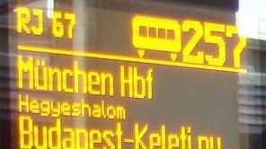 Unterwegs im ÖBB Railjet München – Wien – Budapest