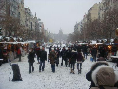 Wenzelsplatz mit Punschständen