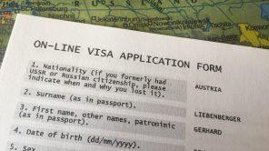 Visum-Antrag für Russland