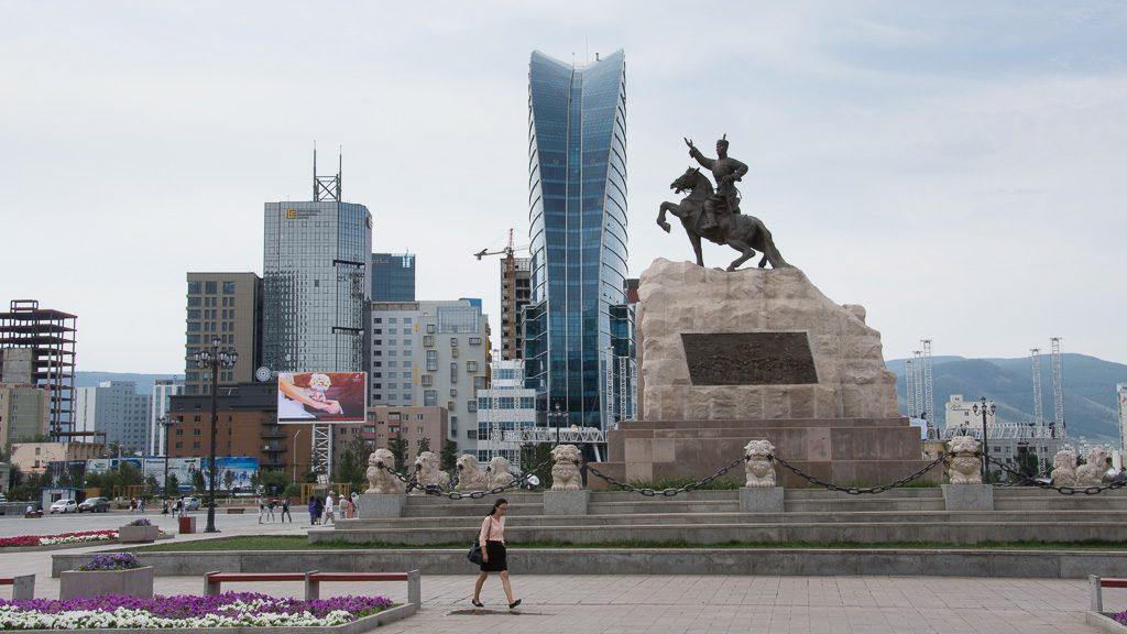 Süchbaatar Platz in Ulan-Bator