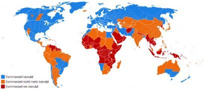 Sommerzeit-Umstellung weltweit (klick) - Bild: Eubulides