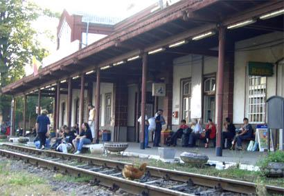 Entspannte Bahnhofs-Stimmung in Vinţu de Jos - Rumänien