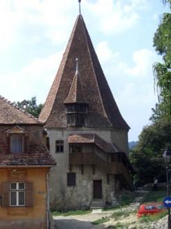 Einer der Wehrtürme in Sighisoara/Schäßburg in Rumänien