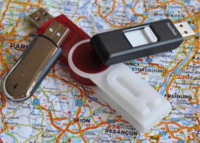 USB-Stick mit auf Reise und im Urlaub