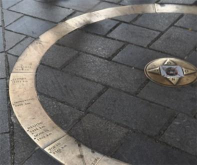 Sehenswürdigkeiten Bratislava: Bronzering im Michaelertor