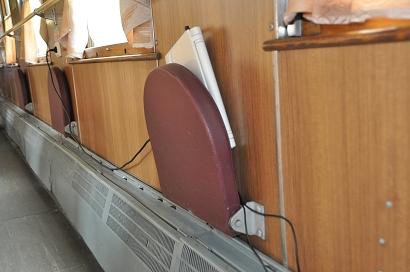 Laptop-Akku aufladen in der Transsibirischen Eisenbahn