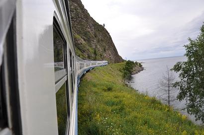Circum-Baikal-Bahn entlang des Baikalsees
