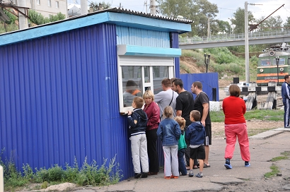 Kiosk am Bahnhof