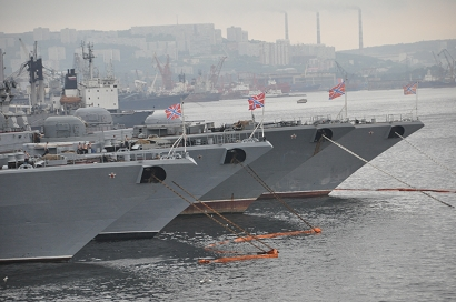 Marinehafen in Wladiwostok