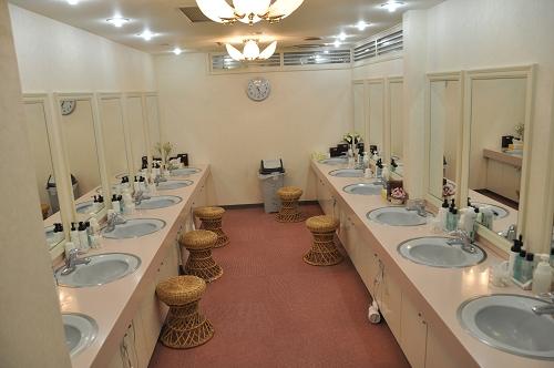 Waschbereich im Kapselhotel