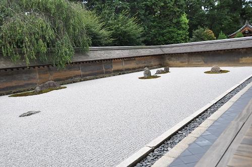 Zen-Garten im Ryoanji-Tempel im Kyoto