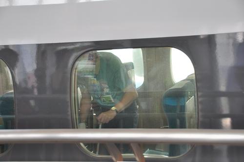 Reinigung des Shinkansen