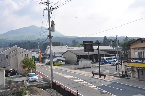 Blick von der Terrasse vom Aso Base Backpackers Hostel